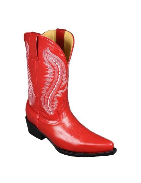 Bottes western Yuma rouge