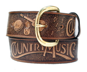 876d449897e0 Ceinture cuir western Brushy country